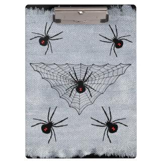 ゴシック様式クロゴケグモの蜘蛛の巣ハロウィン クリップボード