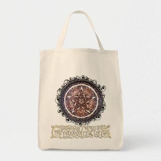 ゴシック様式ゲートの星形五角形-ロゴの食料雑貨のトート トートバッグ