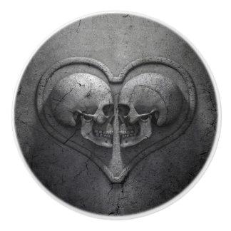 ゴシック様式スカルのハートの陶磁器のノブ セラミックノブ