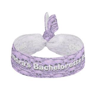 ゴシック様式スカルの紫色の名前入りなバチェロレッテ ヘアタイ