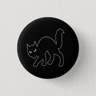 ゴシック様式ハロウィンの恐い子猫猫 3.2CM 丸型バッジ