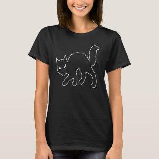 ゴシック様式ハロウィンの恐い子猫猫 Tシャツ