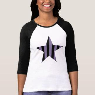 ゴシック様式パンクのストライプのな星 Tシャツ