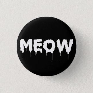 ゴシック様式パンクの猫の鳴き声 3.2CM 丸型バッジ