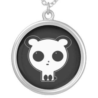 ゴシック様式パンダのペンダントのネックレス シルバープレートネックレス