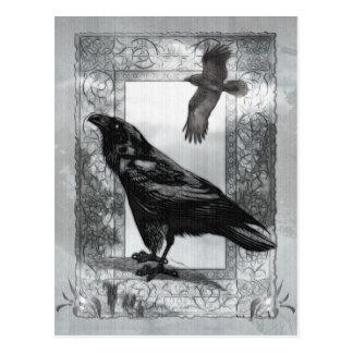 ゴシック様式ビクトリアンなワタリガラスのファンタジーの芸術 ポストカード