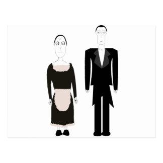 ゴシック様式ビクトリアンな女中および執事 ポストカード
