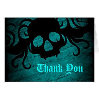 ゴシック様式ファンタジーのスカルは感謝していしています カード