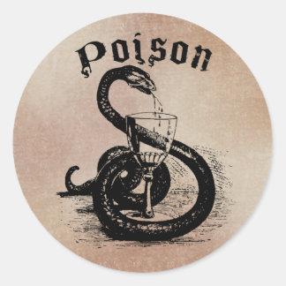 ゴシック様式ヘビの毒ハロウィン ラウンドシール
