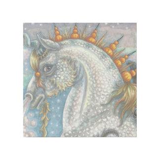 ゴシック様式ユニコーンのファンタジーの馬の芸術の覆いのプリントをまだらにして下さい ギャラリーラップ