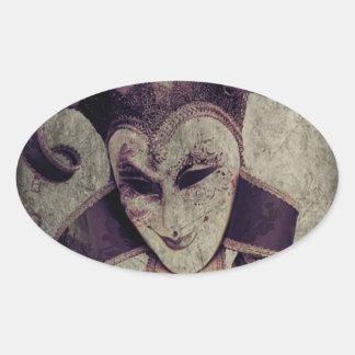 ゴシック様式ルネサンスの邪悪なピエロのジョーカー 楕円形シール