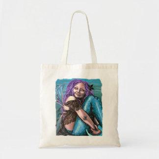 ゴシック様式人魚のアートワークのバッグ トートバッグ
