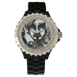 ゴシック様式入れ墨のレディース・ウォッチ 腕時計