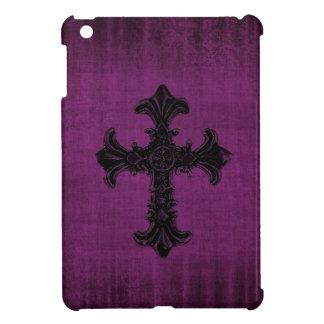 ゴシック様式十字が付いている紫色のiPad Miniケース iPad Mini Case