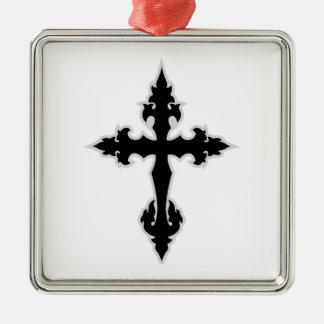ゴシック様式十字 メタルオーナメント