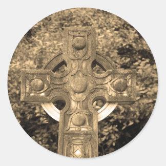 ゴシック様式十字 ラウンドシール