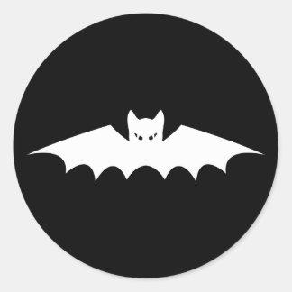 ゴシック様式吸血コウモリ猫 ラウンドシール