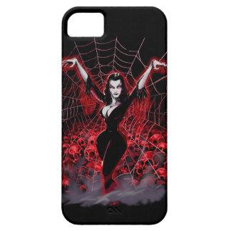 ゴシック様式吸血鬼の女性の蜘蛛の巣 iPhone SE/5/5s ケース
