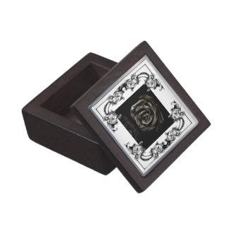ゴシック様式吸血鬼の黒のバラのギフト用の箱 ギフトボックス