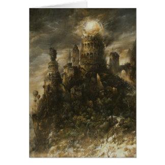 ゴシック様式城のメッセージカード カード