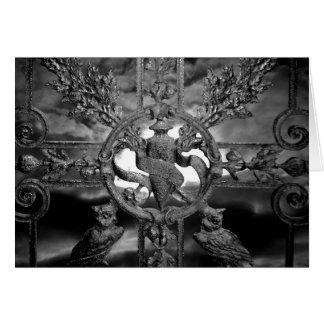 ゴシック様式墓地のゲートのフクロウのすべての行事 カード