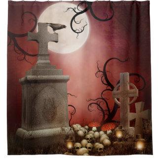 ゴシック様式墓碑のシャワー・カーテン シャワーカーテン