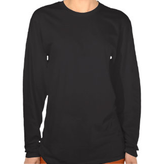 ゴシック様式女性との黒い女性牡羊座長いSleve T Tシャツ