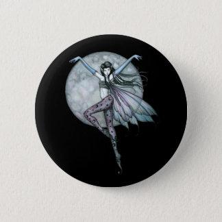 ゴシック様式妖精Pinは、満月に妖精ボタンをかけます 5.7cm 丸型バッジ