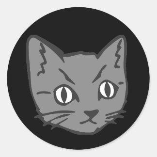 ゴシック様式子猫猫の顔 ラウンドシール