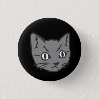 ゴシック様式子猫猫の顔 3.2CM 丸型バッジ