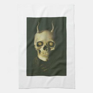 ゴシック様式悪魔のスカルの台所タオル キッチンタオル