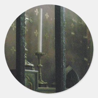 ゴシック様式教会蝋燭 ラウンドシール