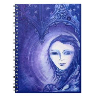 ゴシック様式星のカテドラルの女の子 ノートブック