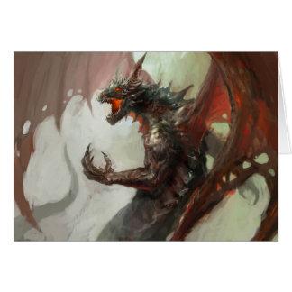 ゴシック様式暗いドラゴンのメッセージカード カード