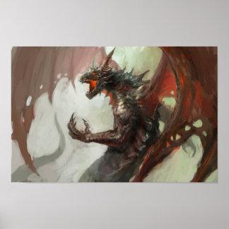 ゴシック様式暗いドラゴンポスター ポスター