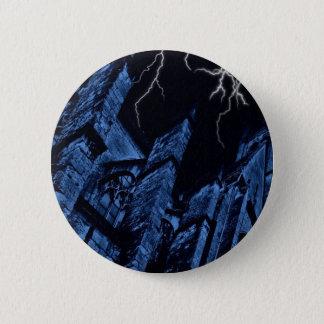 ゴシック様式暗い嵐のファンタジーの青 5.7CM 丸型バッジ