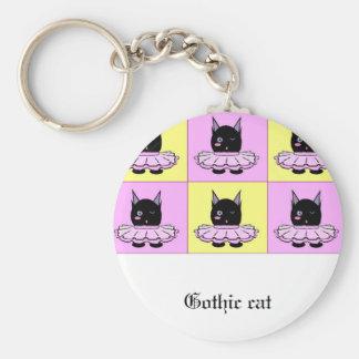 ゴシック様式猫のkeychain キーホルダー