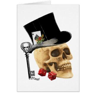 ゴシック様式相場師のスカルの入れ墨のデザイン カード