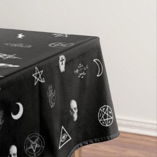 ゴシック様式神秘的な記号パターン テーブルクロス