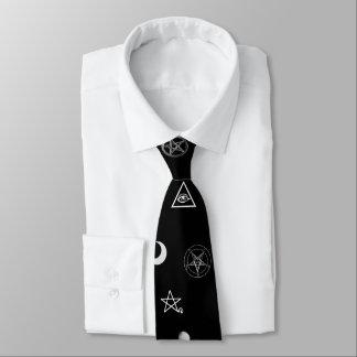 ゴシック様式神秘的な記号パターン ネクタイ