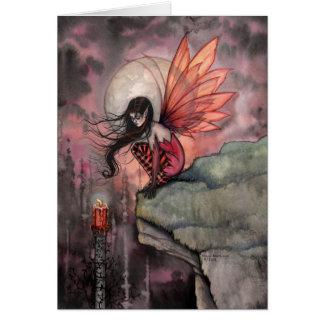 ゴシック様式秋のモーリーハリスンによる妖精の芸術カード カード