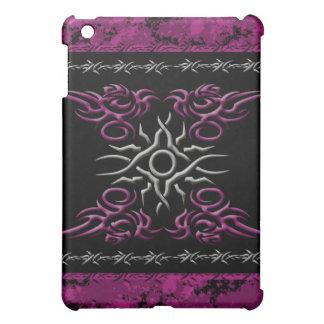 ゴシック様式種族の入れ墨の銀のピンクの有刺鉄線 iPad MINI カバー