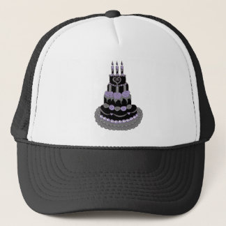 ゴシック様式紫色のお誕生日ケーキ キャップ