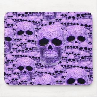 ゴシック様式紫色のスカル マウスパッド