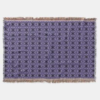 ゴシック様式紫色のレースのフラクタルパターン スローブランケット