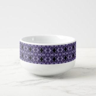 ゴシック様式紫色のレースのフラクタルパターン スープマグ