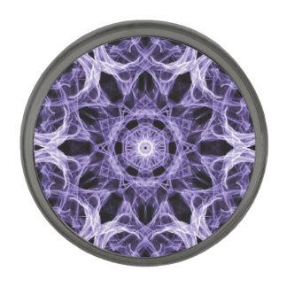 ゴシック様式紫色のレースのフラクタル ガンメタルラペルピン