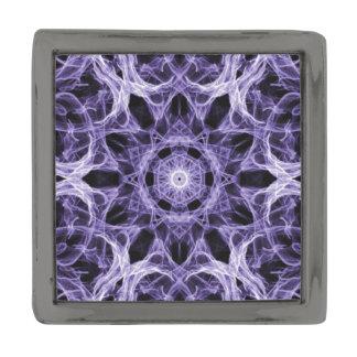ゴシック様式紫色のレースのフラクタル ガンメタル ラペルピン