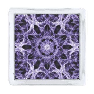 ゴシック様式紫色のレースのフラクタル シルバー ラペルピン
