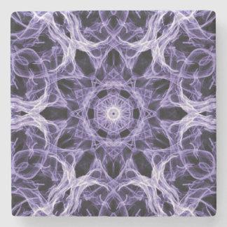 ゴシック様式紫色のレースのフラクタル ストーンコースター